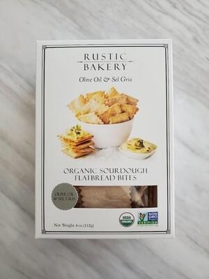 Rustic Bakery Olive Oil & Sel Gris Organic Sourdough Flatbread Bites