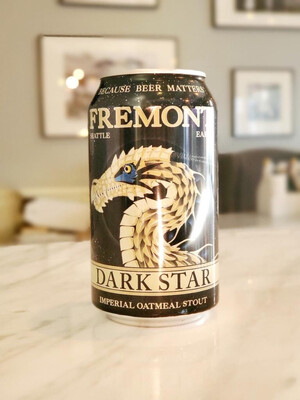 Dark Star Imperial Oatmeal Stout by Fremont Brewing, Seattle WA