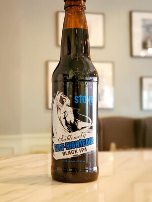 Sublimely Self Righteous Black IPA by Stone Brewing, Escondido CA