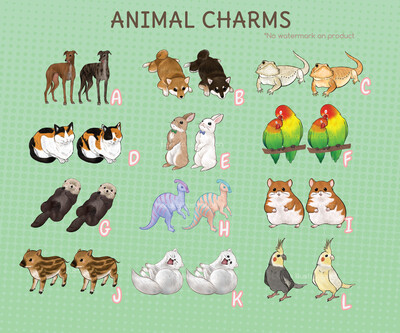 Animal acrylic charms
