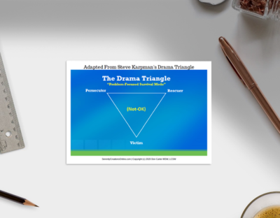 Drama Triangle & Empowerment Dynamic Therapy Cards