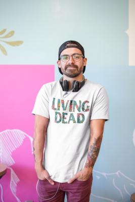 Zombie Flesh Wording - Living Dead T-Shirt