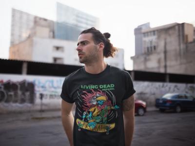 Skateboarding Zombie T-Shirt