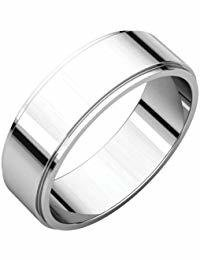 Platinum 6mm Flat Edge Band