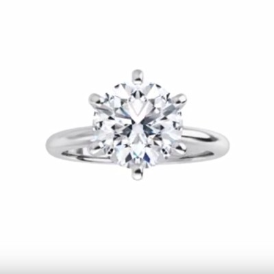 Platinum 6.5mm (1 carat round diamond) Solitaire Engagement Ring