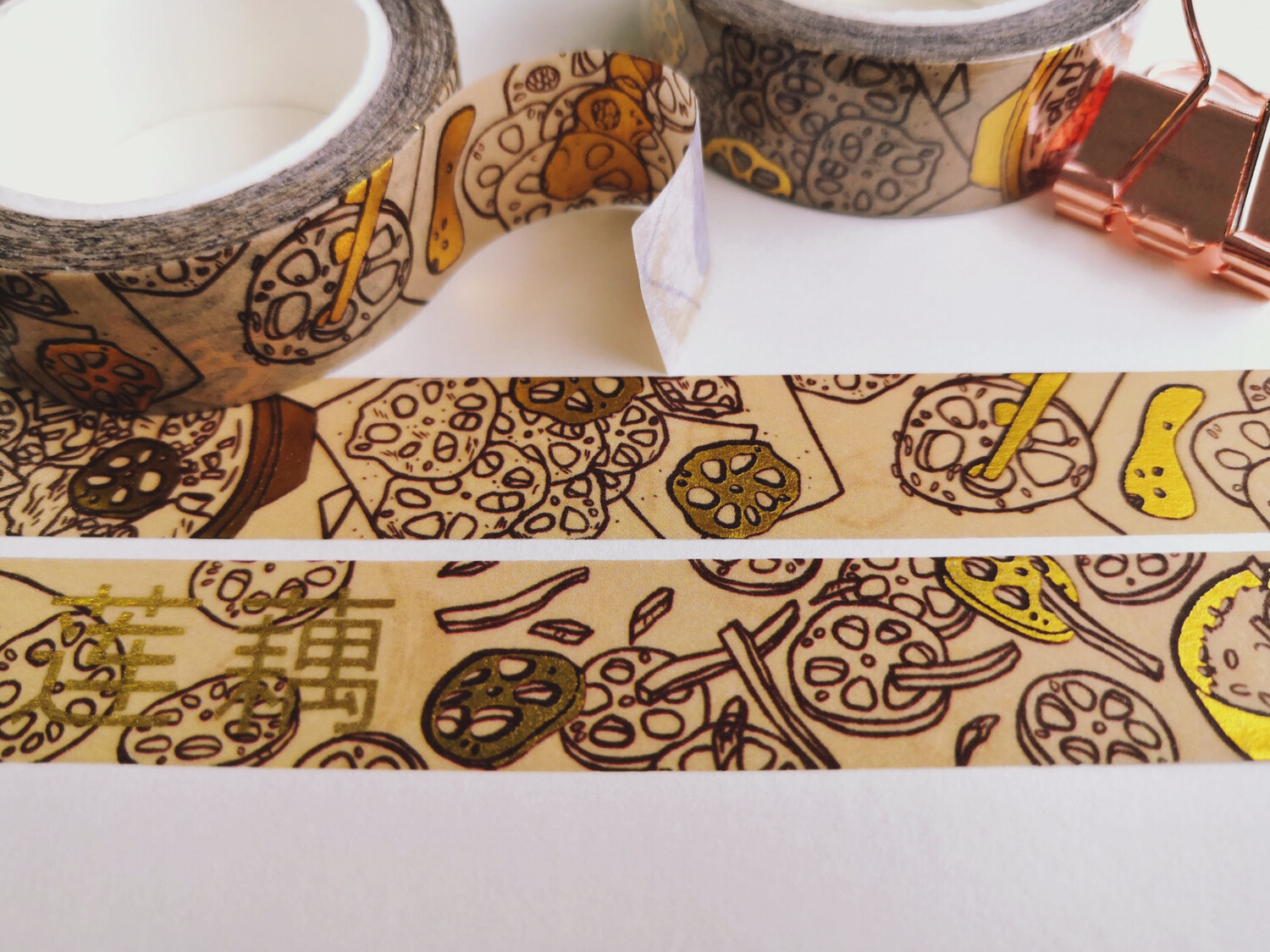 Lotus Root Dishes - Gold Foil Washi Tape