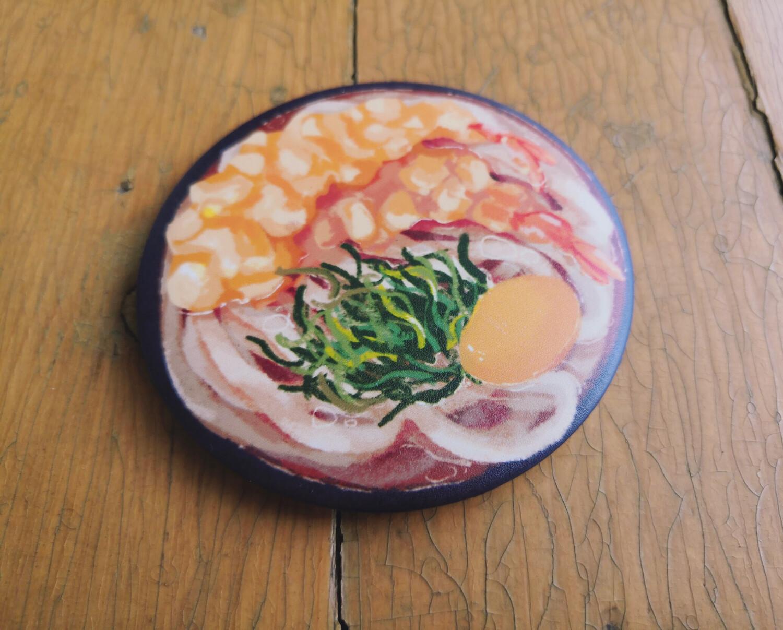 Yum Yum Food Bowl (Tempura Udon) - Button Pin