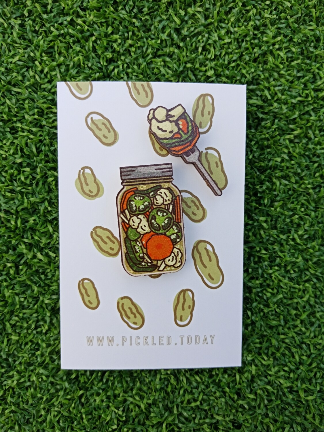 Pickle Jars (Spicy Assorted Pickles) - Wooden Pins