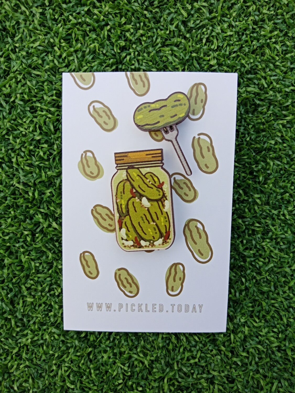 Pickle Jars (Garlic Dill Pickles) - Wooden Pins