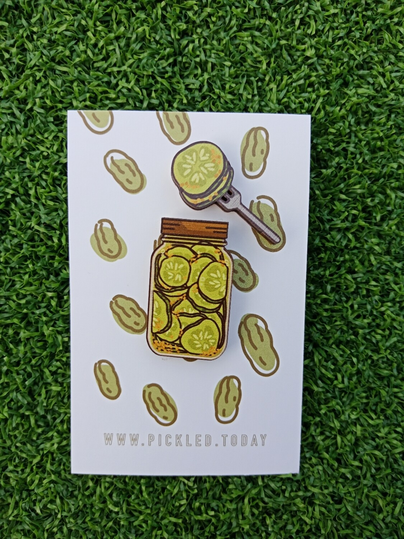 Pickle Jars (Sweet Sliced Cucumber Pickles) - Wooden Pins