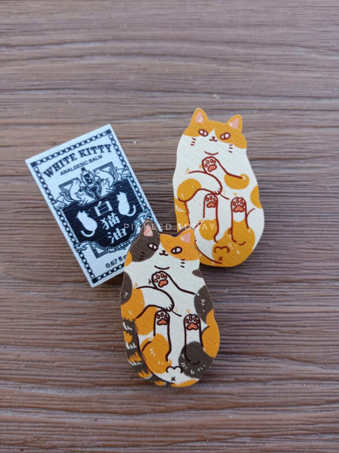 Wooden Pins - Cats