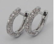 Stylish Clip-on Diamond Earrings