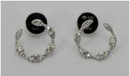 C-shape Diamond Earrings