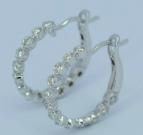 White gold diamond clip-on earrings
