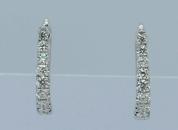 White Gold Clip-on diamond earrings