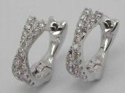 White Gold Clip-on Earrings