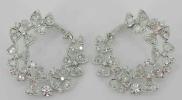 Signature rose cut diamond earrings