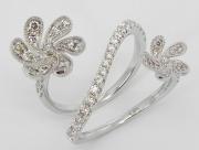 White Gold Flower Diamond ring