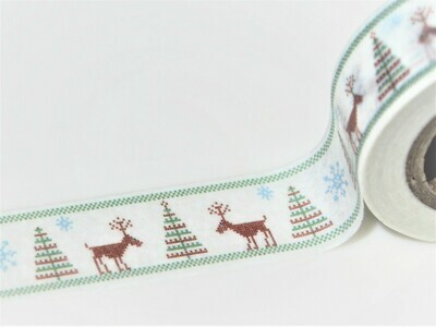 Scandi Trees and Reindeer Paper Tape