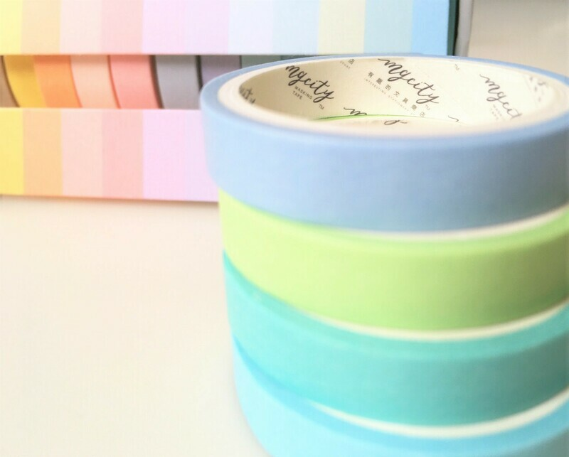 Rainbow Pastels Paper Tape 7.5mm or 15mm