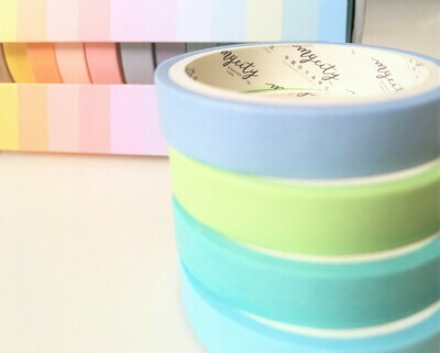 Pastel Rainbow Paper Tape Set
