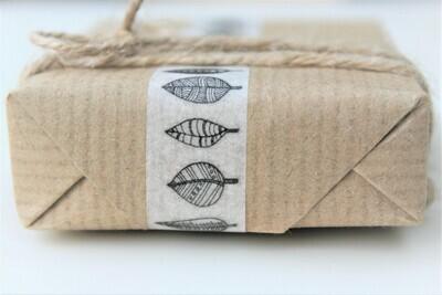 Leaf Print Rice Paper Tape