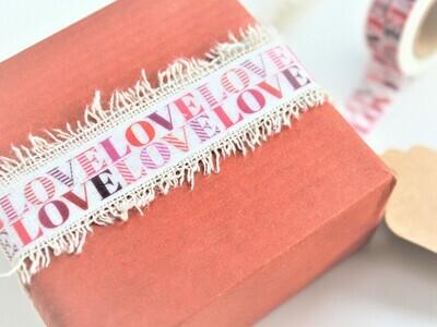 LOVE LOVE Rice Paper Tape