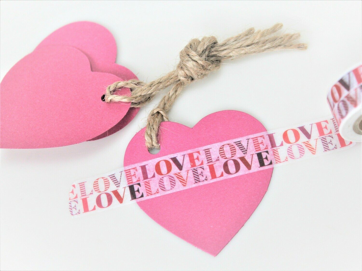 Recycled Heart Tags (3 pack)