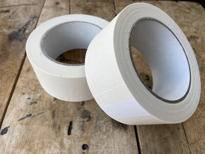 48mm White Self Adhesive Paper Tape