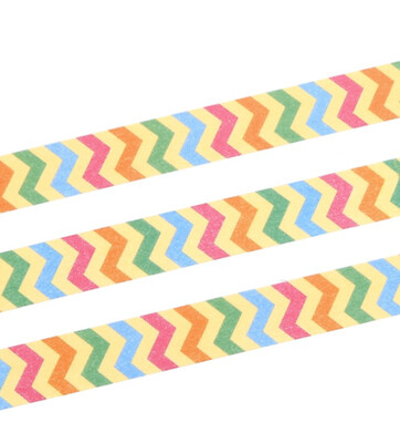 Colourful Zigzag Paper Tape 15mm