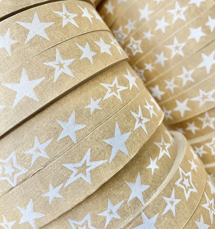 Stars Self Adhesive Brown Paper Tape