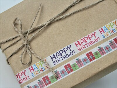 Happy Birthday Rice Paper Tape