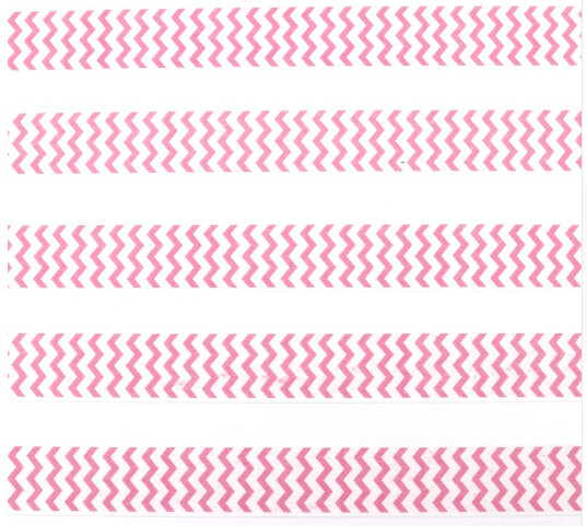 Pink Zig Zag Washi Tape 15mm