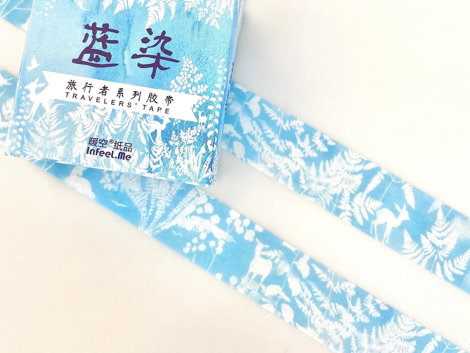 Woodland Blue Paper Tape 15mm