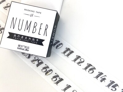 Numbers Paper Tape 15mm