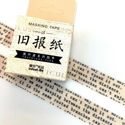 Yellow Print Paper Tape 15mm