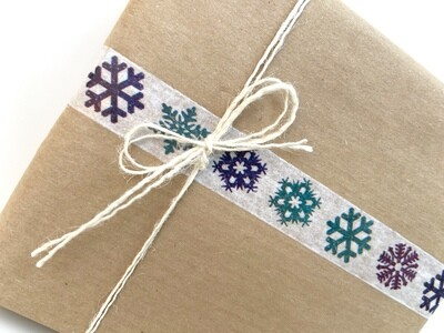 Frosty Snowflakes Paper Tape