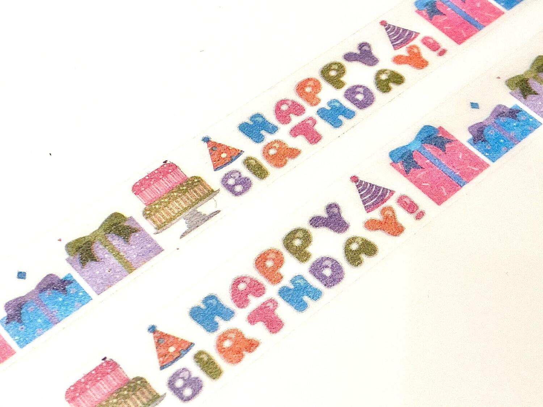 Birthday Wishes Rice Paper Tape