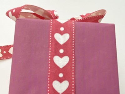 Heart Red Cotton Ribbon