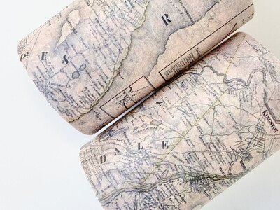 Vintage World Map Paper Tape 60mm