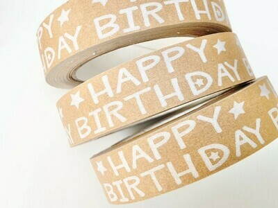 Happy Birthday Brown Paper Tape