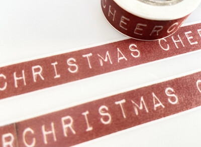 Christmas Cheer Paper Tape as