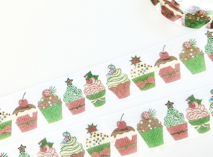 Christmas Cake Paper Tape