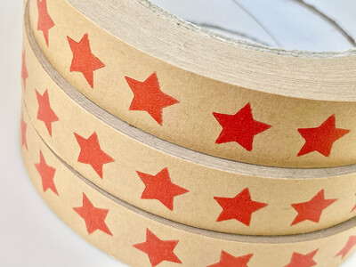 Red Star Brown Paper Tape