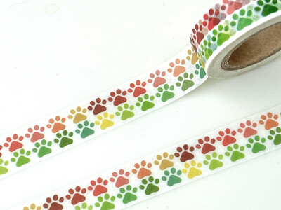 Pet Paws Paper Tape 8mm