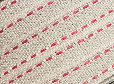 Top Stitched Linen Ribbon