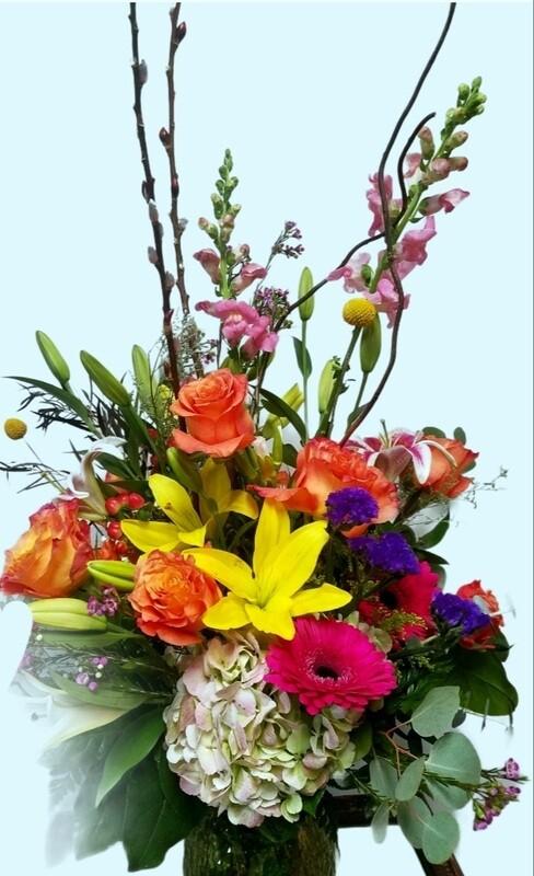 Bright & Chic Valentines Bouquet