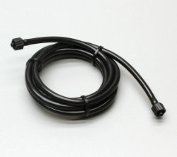 3/32 in X 5 in Black PVC Tubing with M/M Luer Connectors