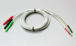 3 Leads of 3 single molded pin conn. to female pin conn. leads for nerve recording in 104