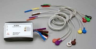 4 Channel EMG system, with IX-BIO4 recorder, LabScribe Software, C-ISO-SL9 and